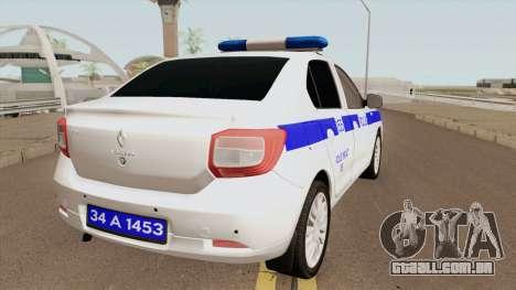 A Polícia Turca Carro Renault Logan para GTA San Andreas