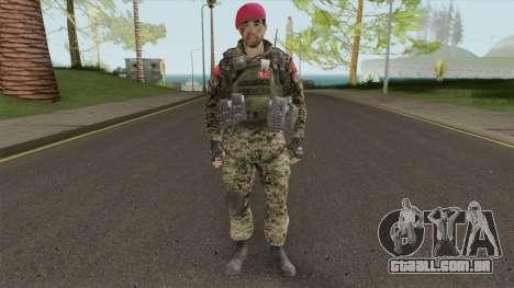 Turkish Army Skin para GTA San Andreas