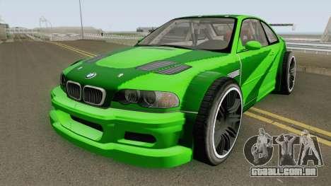 BMW M3 E46 GTR Most Wanted (2012 Style) V1 2001 para GTA San Andreas