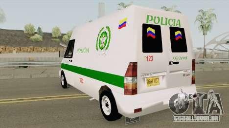 Mercedes Benz Sprinter Policia para GTA San Andreas