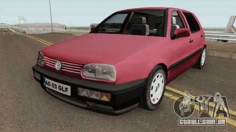 Volkswagen Golf 3 1994 Arges Number Plate para GTA San Andreas
