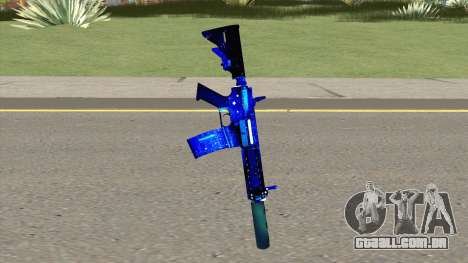 M4A1 Blue Space Silenced para GTA San Andreas