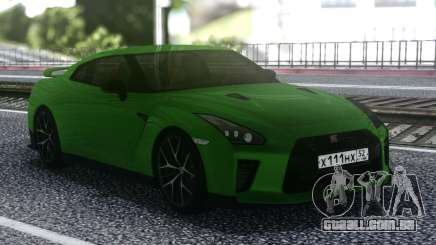 Nissan GT-R R35 Coupe Green para GTA San Andreas