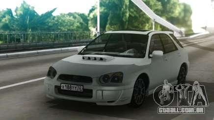 Subaru Impreza WRX Wagon White para GTA San Andreas