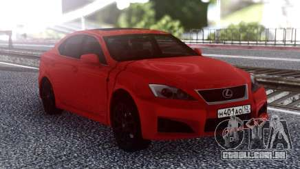 Lexus IS-F 2007 Red para GTA San Andreas