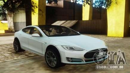 Tesla Model S White para GTA San Andreas
