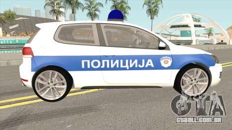 Volkswagen Golf VI Serbian Police para GTA San Andreas