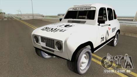 Renault 4 Rally of Pablo Escobar Series para GTA San Andreas