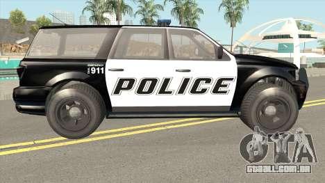 Vapid Prospector Police V2 GTA V IVF para GTA San Andreas
