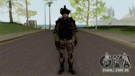 Stormtrooper From Squad Night Tiger (Warface) para GTA San Andreas
