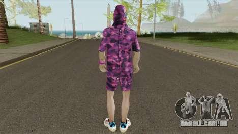 Skin BAPE Purple Camo para GTA San Andreas