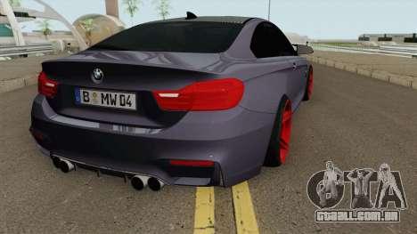 BMW M4 2014 SlowDesign (Red Wheels) para GTA San Andreas