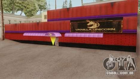 Vanilla Unicorn GTA V para GTA San Andreas