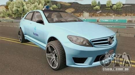 Benefactor Schafter Blue Bird Taxi GTA V para GTA San Andreas