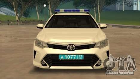 Toyota Camry 2015 Facelift do Moi para GTA San Andreas