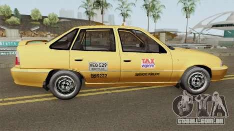 Daewoo Cielo Taxi Colombiano para GTA San Andreas