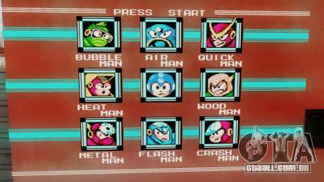 Mega Man Stage Select Wall para GTA San Andreas