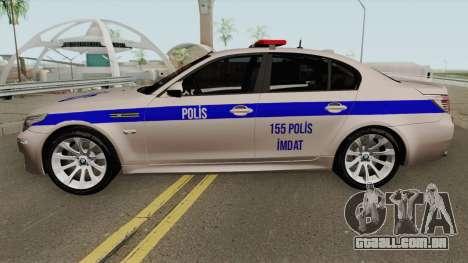 A polícia turca carro BMW M5 E60 para GTA San Andreas