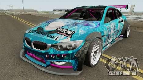 BMW M4 F82 Hatsune Miku para GTA San Andreas