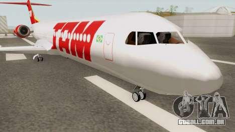 Fokker 100 TAM Airlines para GTA San Andreas