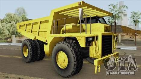 Caterpillar Dumper Basculante para GTA San Andreas