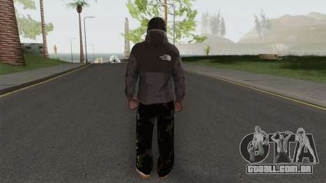 The North Face Black Guy para GTA San Andreas