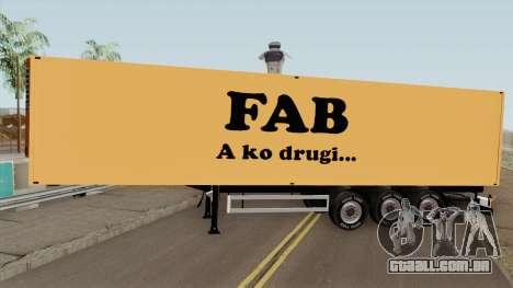 FAB Trailer para GTA San Andreas