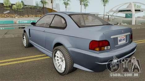 Ubermacht Sentinel Retro GTA V para GTA San Andreas