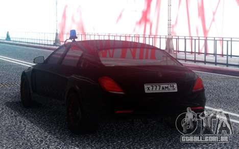 A Mercedes-Benz Maybach S600 Imperador ФСБ РФ para GTA San Andreas