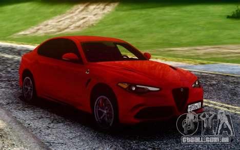 Alfa Romeo Giulia Quadrifoglio 17 para GTA San Andreas