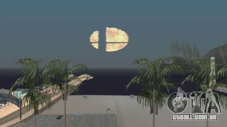 Smash Ball On Fire In The Night Sky para GTA San Andreas