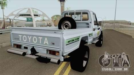Toyota Land Cruiser Bajos Recursos para GTA San Andreas