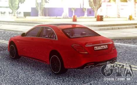 Mercedes-Benz S63 W222 2018 para GTA San Andreas