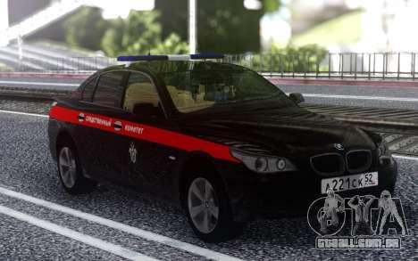 BMW M5 E60 o Comitê de Investigação da rússia para GTA San Andreas