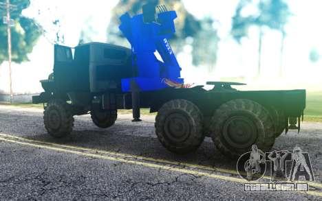 Caminhão trator Ural 4320-1912-72 CMU FORMIGA 22 para GTA San Andreas