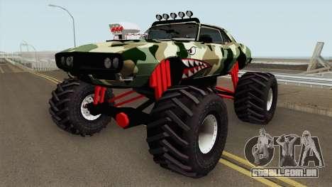 Pontiac Firebird Camo Shark Monster Truck 1968 para GTA San Andreas