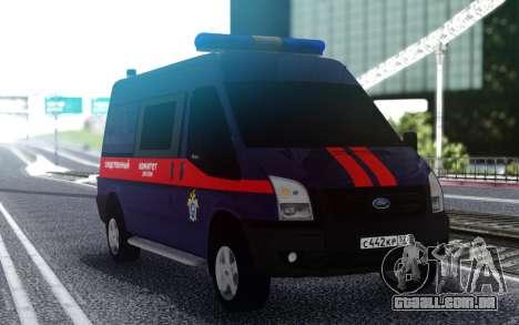 Ford Transit Comitê de Investigação da rússia para GTA San Andreas