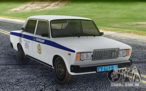 2107 PDL Polícia local representante para GTA San Andreas