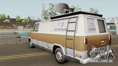 Newsvan Van Reportagem (Emissoras BR) TCGTABR para GTA San Andreas