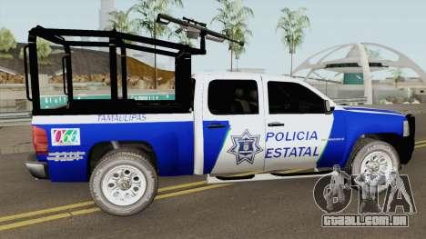 Chevrolet Silverado Policia Estatal Tamaulipas para GTA San Andreas