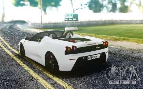 Ferrari F430 Scuderia Spider para GTA San Andreas