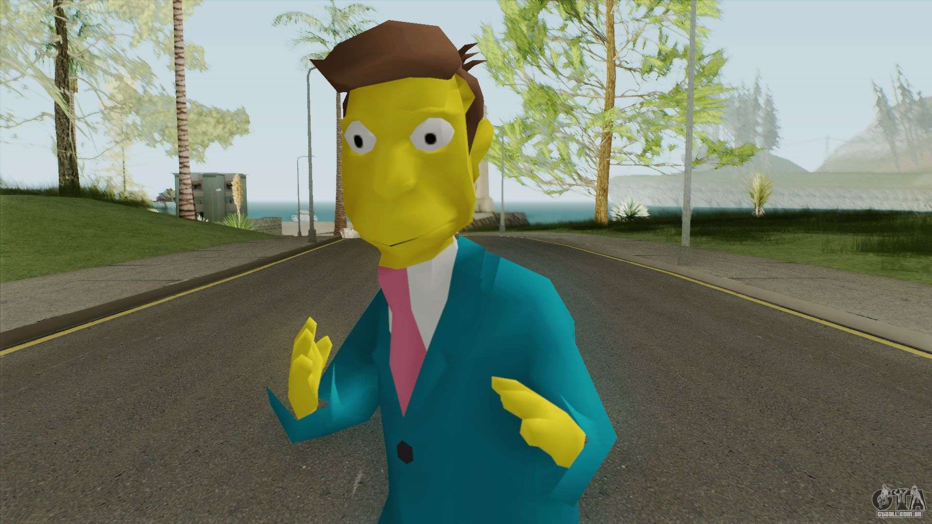 Seymour Skinner - Simpsons Hit and Run para GTA San Andreas