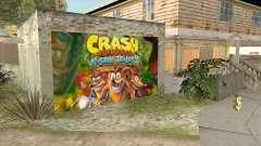 Crash Bandicoot N. Sane Trilogy Wall Garage CJ para GTA San Andreas