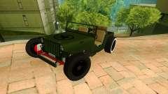 Jeep Willys Flatfender Loose Nuts para GTA San Andreas