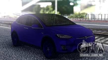 Tesla Model X Blue para GTA San Andreas