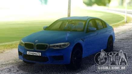 BMW M5 F90 Blue para GTA San Andreas