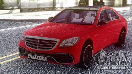 Mercedes-Benz S63 W222 2018 Red para GTA San Andreas