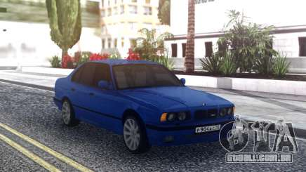 BMW M5 E34 Blue Sedan para GTA San Andreas