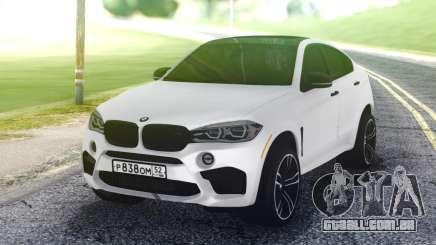BMW X6M White para GTA San Andreas