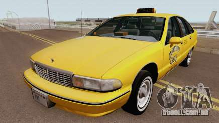 Chevrolet Caprice 1991 Taxi HQ para GTA San Andreas